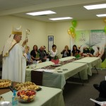 Bishop blesses Catholic Charities office expansion