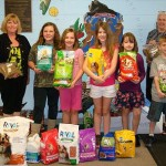 Howell kids help needy senior citizens feed their pets