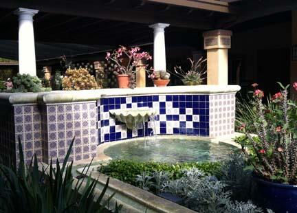 Beautiful Blue Tile Courtyard