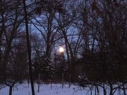 Moon of wintertime, ushering in the New Year