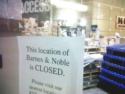 B&N closed