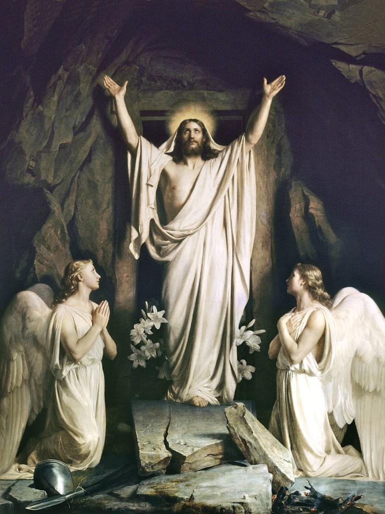 Carl Heinrich Bloch, The Resurrection, 1873.