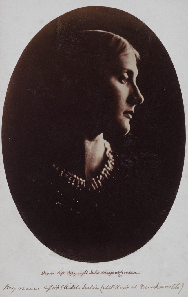 Mrs. Herbert Duckworth, Julia Margaret Cameron, c. 1867, albumen print. Detroit Institute of Arts