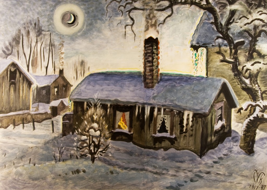 The Star, Christmas Night, Charles Burchfield, 1939, watercolor. Detroit Institute of Arts