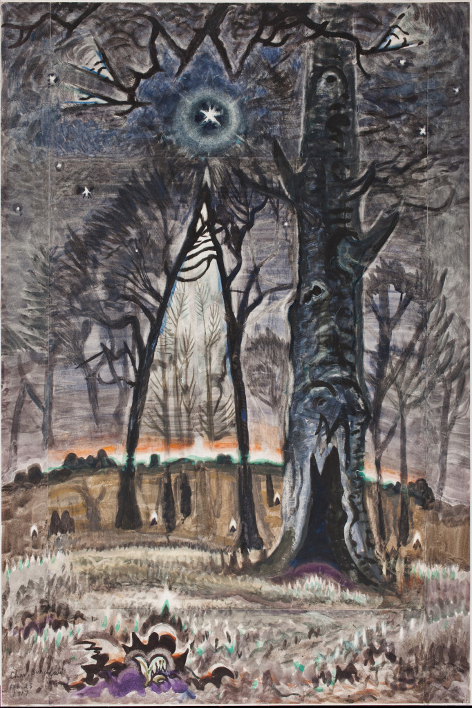 Starlit Woods, Charles Burchfield, 1917, watercolor over charcoal. Detroit Institute of Arts