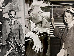 Submitted photo Images of Theodore, Franklin and Eleanore Roosevelt.