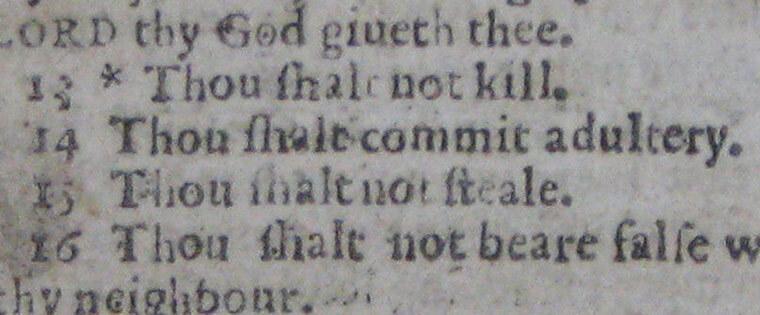 Bible typo