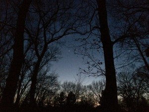 April nighttime starry landscapes