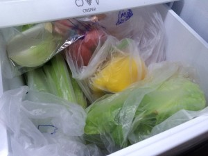 My veggie drawer, before I realized it was all useless garbage...