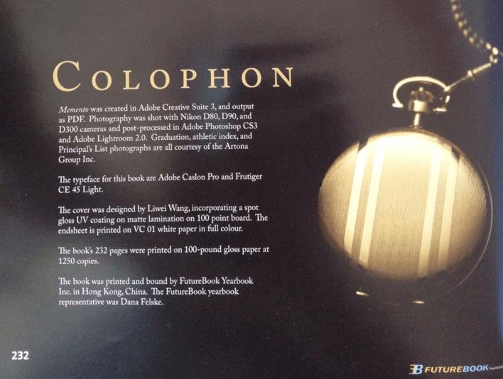 Colophon - 2