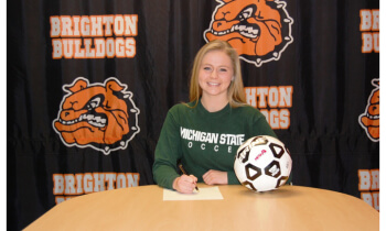 Amy Krause, whose father played baseball at Michigan State, will play soccer for the Spartans this fall.