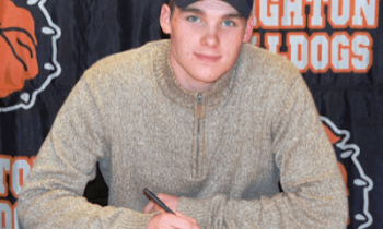 Porter Groce signed a letter-of-intent to play football at Concordia University in Ann Arbor.