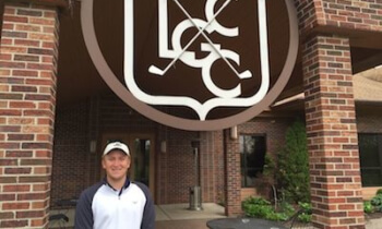 Otto Black poses before a workout at Lakelands Golf and Country Club on Friday. He  will play in an NCAA regional next week as his college career comes to a close. He will turn pro next month on PGA Tour Canada. (Photo by Tim Robinson)
