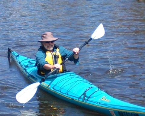 Mike Malott in kayak