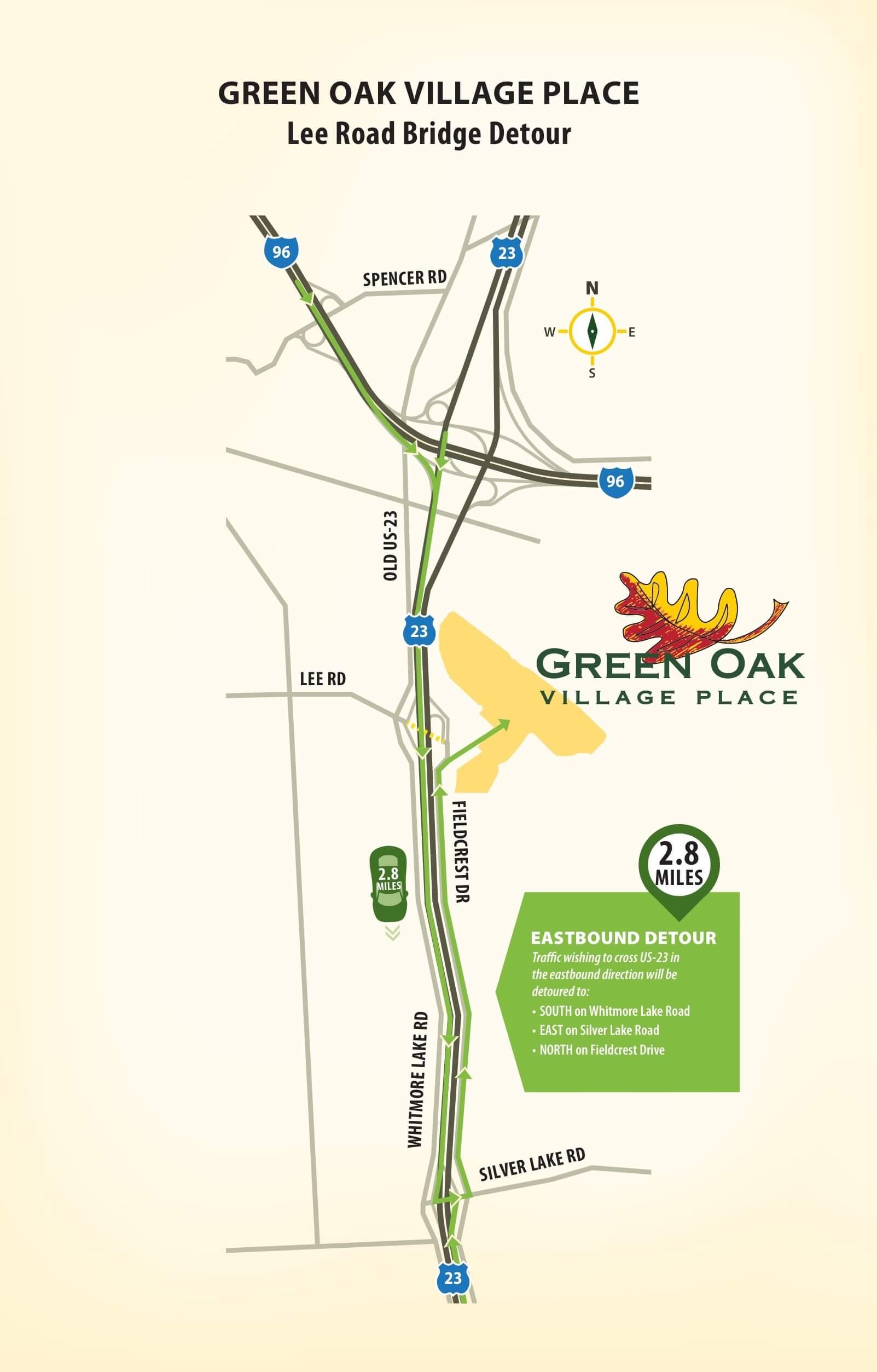 Green Oak Village Bridge Constr. Infographic