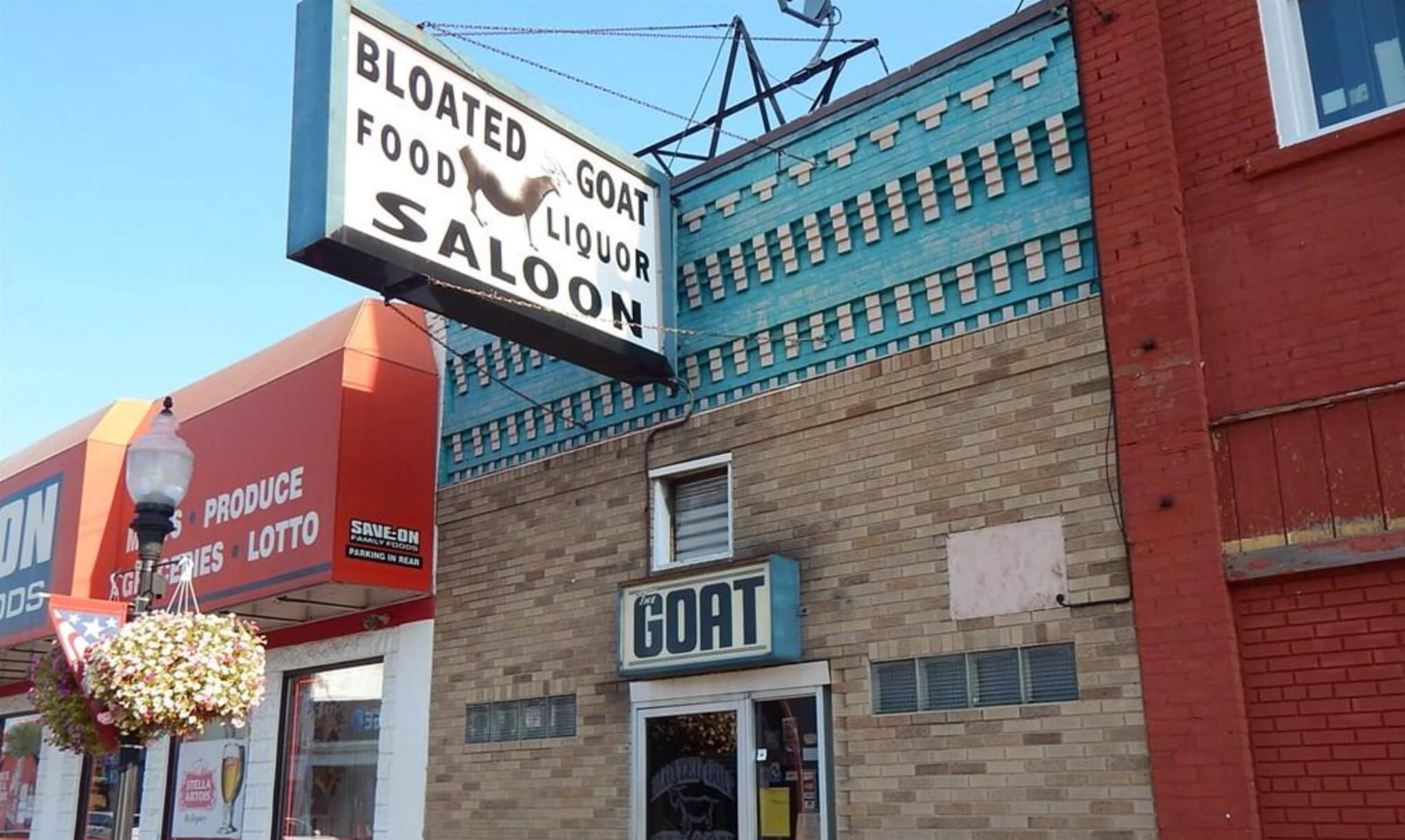 The Bloated Goat Saloon in downtown Fowlerville.