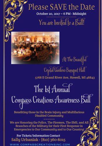 First Annual Compass Creations Awareness Ball @ Crystal Gardens Banquet Center