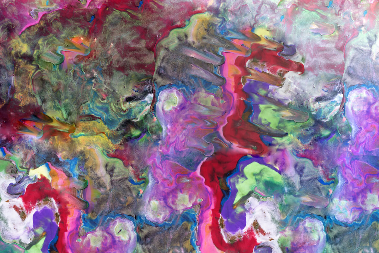 Abstract background made from Play Clay.