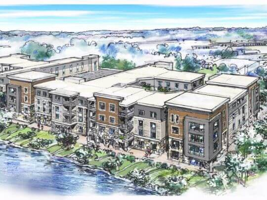 What do you think about the apartment complex being ...