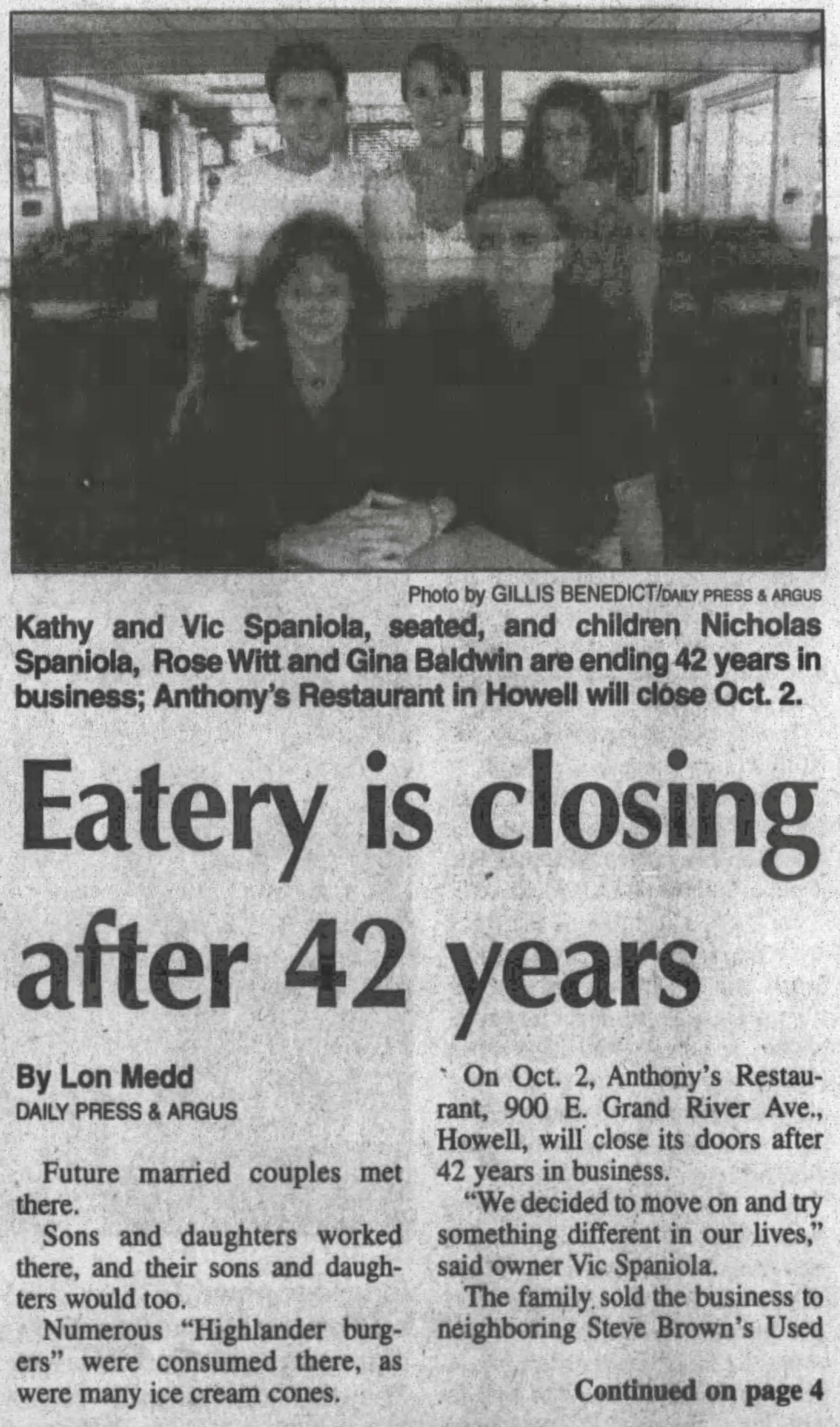And The Restaurants Our Readers Would Bring Back If They