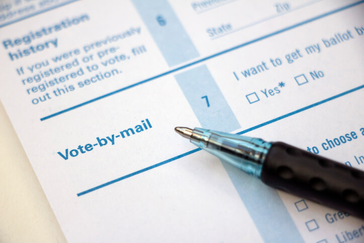 Voter Registration – Vote by Mail with pen